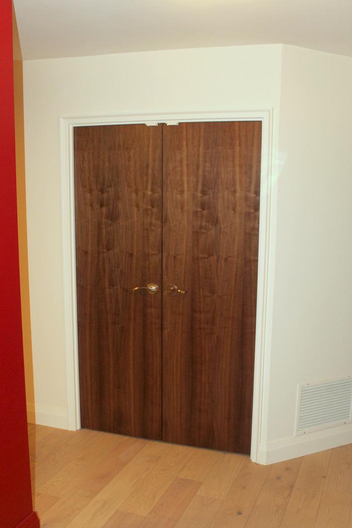 Walnut custom architectural doors