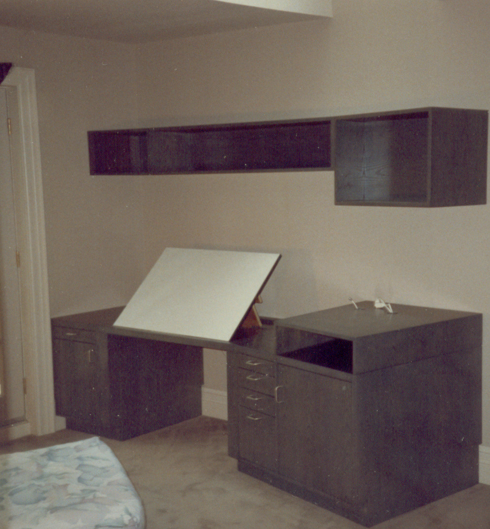 Custom drafting desk